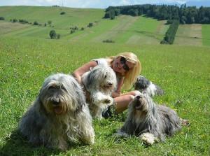 Sprawczyni pięknych plenerowych zdjęć  Banciarni - Milena, z naszymi psami.